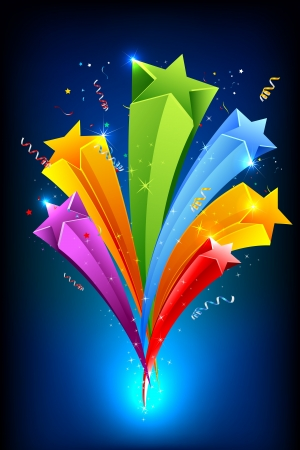 illustration of colorful stars on abstract background Stock Vector - 17694891