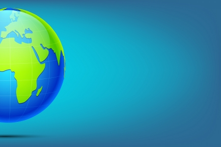 international network: illustration of earth on abstract background