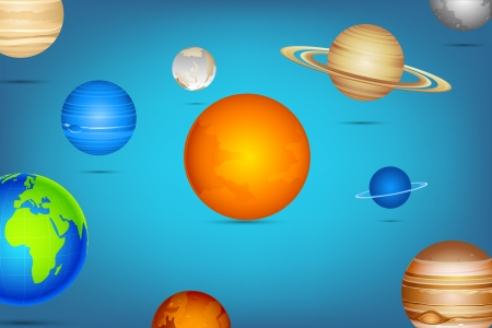 illustration of planet of solar system on abstract background Vector