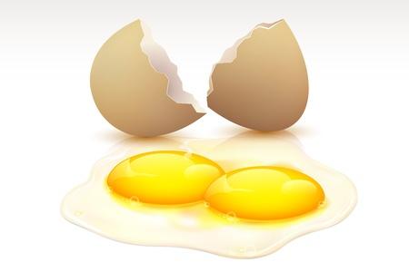 sosie: illustration d'oeuf avec deux jaunes montrant double avantage Illustration