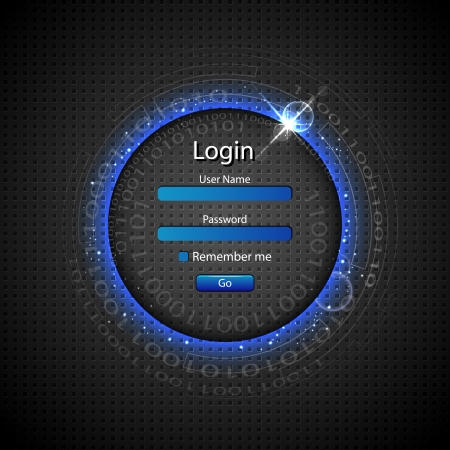 illustration of login page on technology background Stock Vector - 17945474
