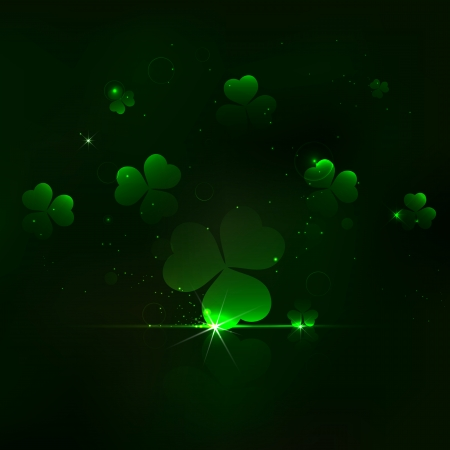 illustration of Saint Patrick's Day Background with clover leaf Vector