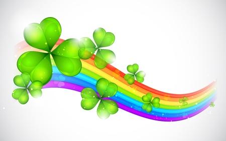 patrick's: illustration of Saint Patrick s Day Background with clover leaf Illustration