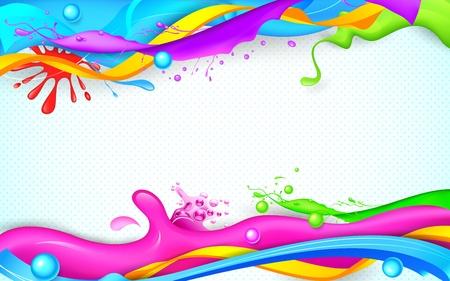 ilustración del chapoteo colorido Holi en papel pintado