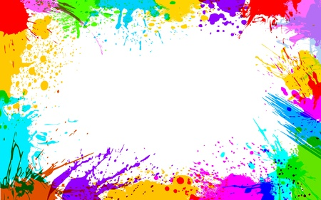 illustration of colorful grunge making frame Vector