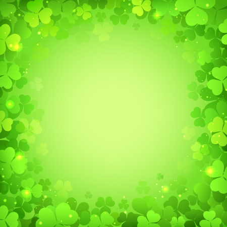 illustration of Saint Patrick s Day Background with clover leaf Stock Vector - 18131875