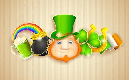 saint patrick��s day: illustration of Saint Patrick s Day background Illustration