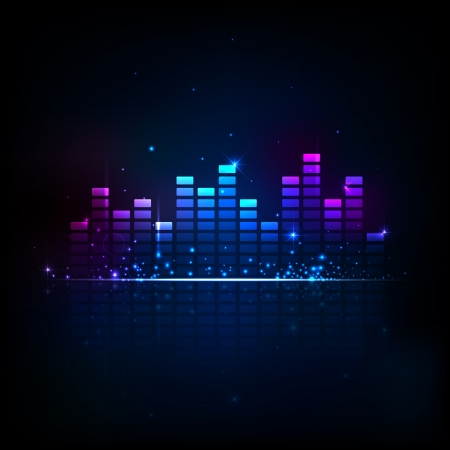 equaliser: illustration of music equaliser bar in shiny background Illustration