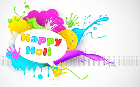 illustration of colorful splash in Holi wallpaper Stock Vector - 18404772