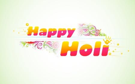 panchami: illustration of colorful color splash in Holi background Illustration