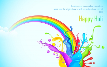 illustration of colorful splash of rainbow in Holi wallpaper Stock Vector - 18404615
