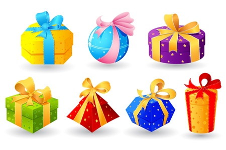 illustration of collection of colorful gift Stock Vector - 18420340