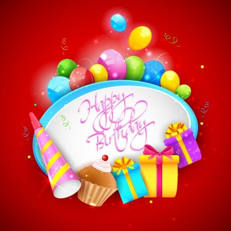 illustration of Happy Birthday background Stock Vector - 18420335