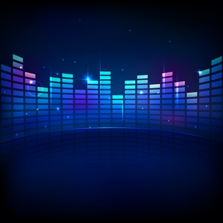 vibrations: illustration of music equaliser bar in shiny background Illustration