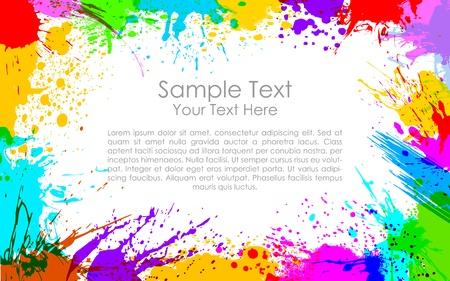splash paint: illustration de grunge color� rendant cadre