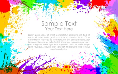 fun festival: illustration of colorful grunge making frame Illustration