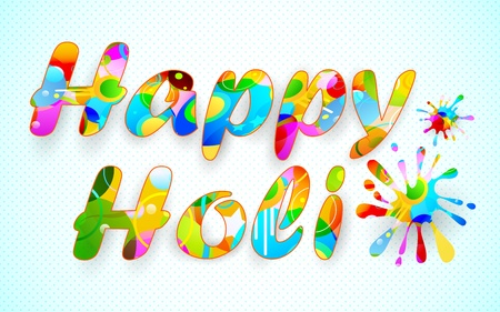 illustration of colorful color splash in Holi background Vector