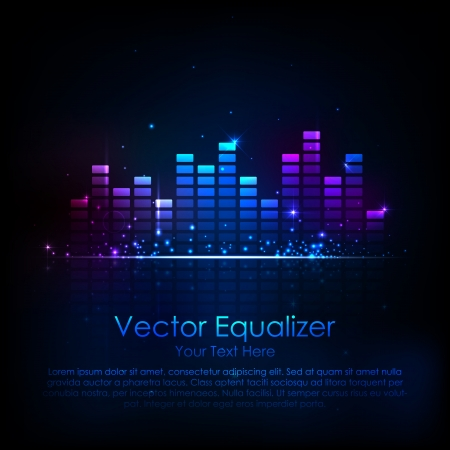 illustration of music equaliser bar in shiny background Stock Vector - 18437442