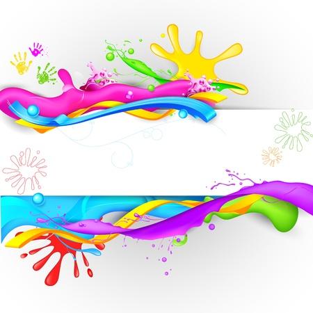 illustration of colorful splash in Holi wallpaper Stock Vector - 18438056