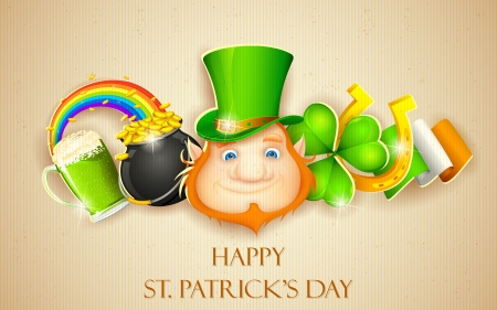 saint patrick's day: illustration of Saint Patrick s Day background Illustration