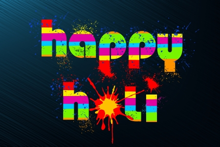 dhulandi: illustration of colorful color splash in Holi background Illustration