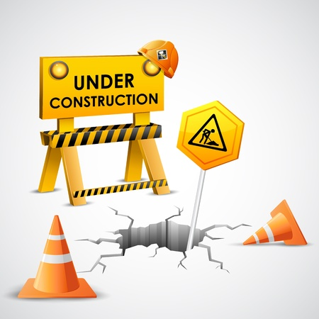 illustration of under construction background Stock Vector - 18440487