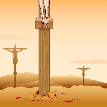 sacrificio: ejemplo de Jesucristo crucificado el Viernes Santo
