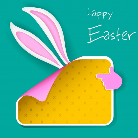 illustration of banner with Easter bunny ears Stock Vector - 18495987