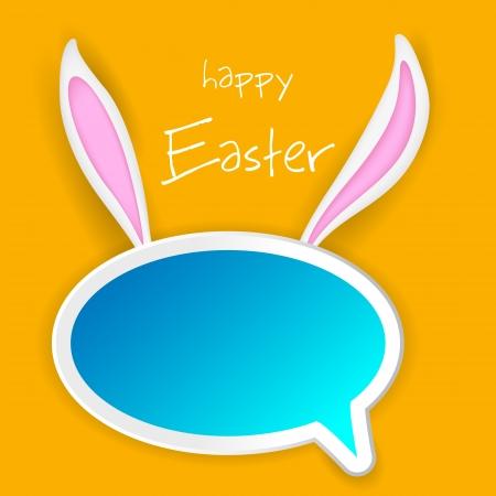 bunny ears: ilustraci�n de la burbuja charla con orejas de conejo de Pascua Vectores