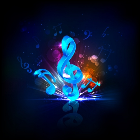 musical background: illustration of abstract musical background with note Illustration