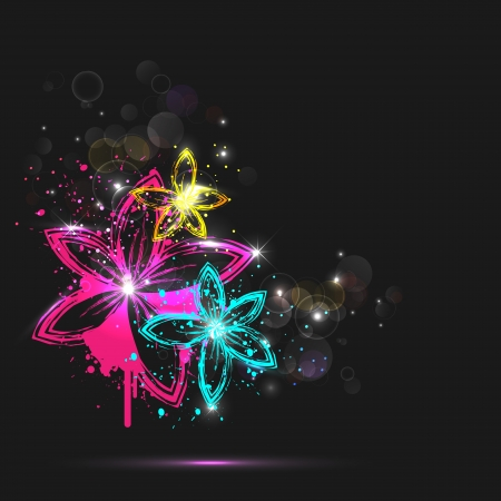 illustration of abstract colorful glowing flower Stock Vector - 18756033