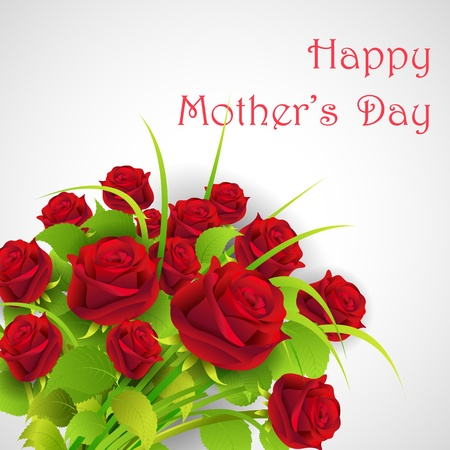 mother s: illustration of bunch of rose in Happy Mother s Day Illustration