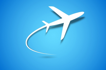papierflugzeug: Illustration Papierflieger Ausziehen