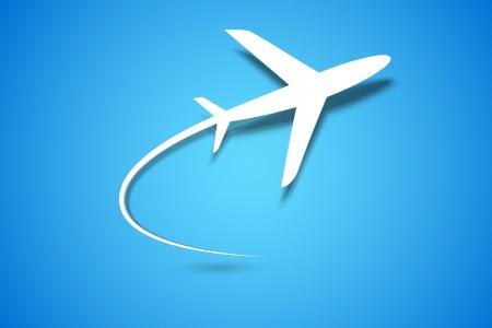 aerei: illustrazione di carta aereo in decollo Vettoriali