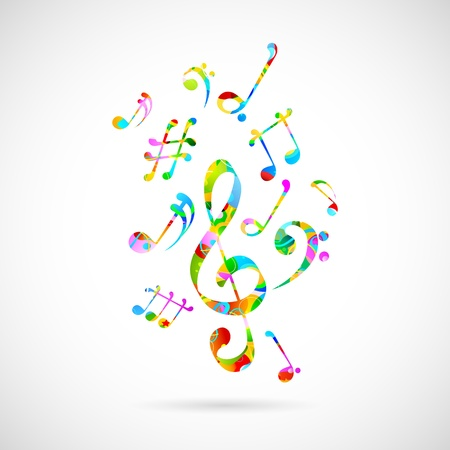 illustration of abstract musical background with note Vector