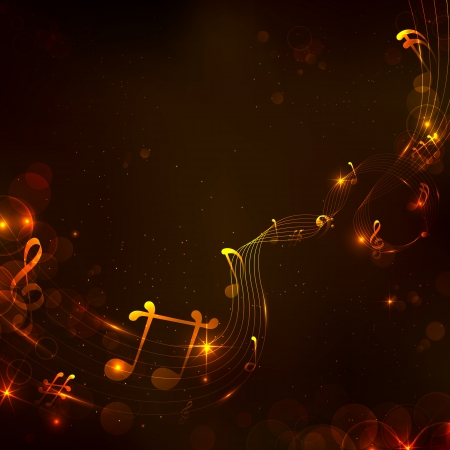 abstract music: illustration of abstract music note for musical background Illustration