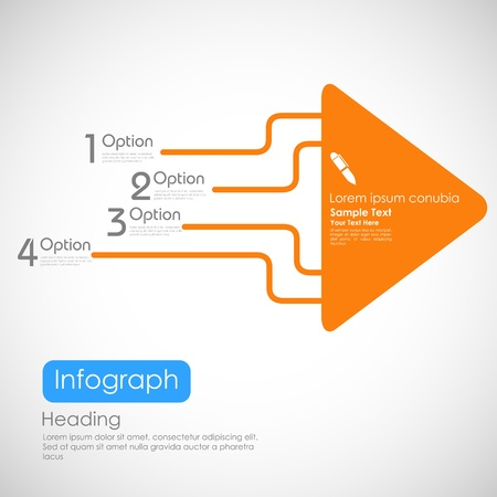 illustration of infographics options with arrow for presentation and promotion Stock Vector - 19372252