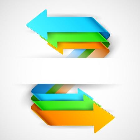 illustration de l'infographie les options Bannière de flèche pour la présentation et promotion