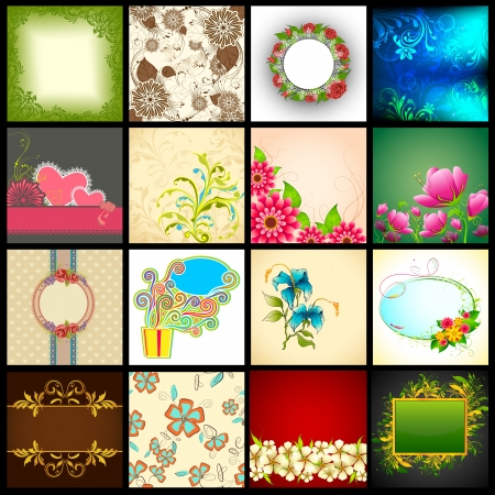 designing: illustration of collection of vector background for designing purpose Illustration