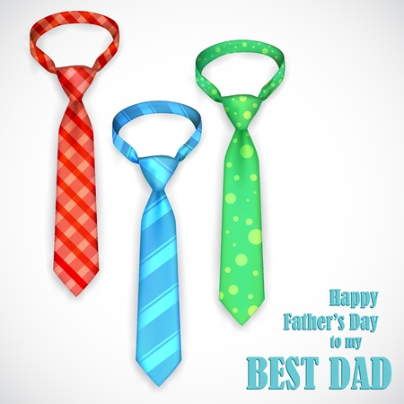 father s day: illustration of stylish tie in Father s Day card Illustration