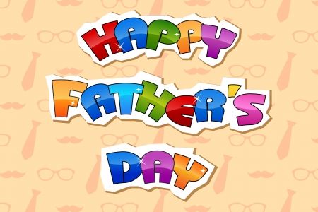illustration of Happy Father s Day retro background Stock Vector - 19927613
