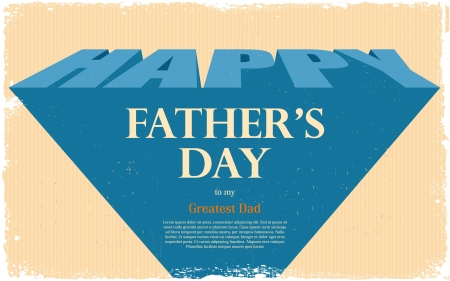 illustration of Happy Father s Day retro background Stock Vector - 19927638