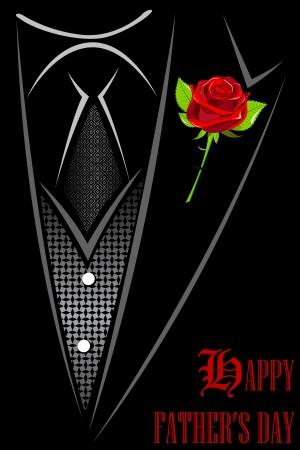 business shirts: ejemplo de hombre de traje con rosa roja metida Feliz D�a del Padre s Vectores
