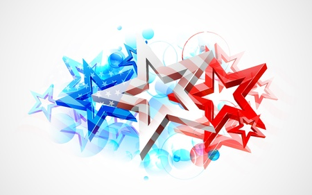 july: illustration of abstract American Flag for Independence Day Illustration