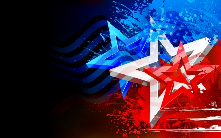 독립 기념일에 대 한 추상적 인 미국 국기의 그림