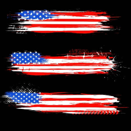 president day: illustration of Grungy American Flag Banner for Independence Day