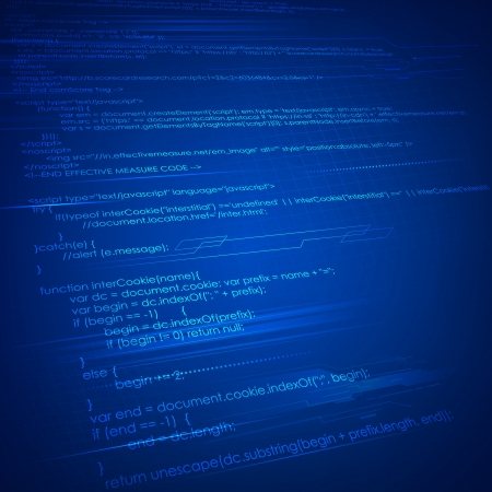 html: illustration of html coding on technology background