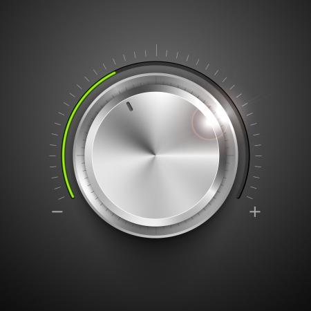 illustratie van chrome knop voor aanpassing