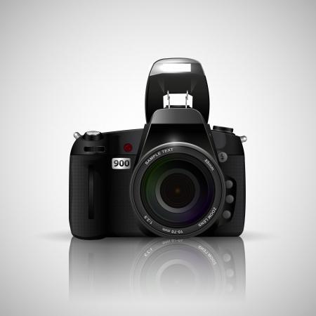 illustration of camera on white background Stock Vector - 20335369
