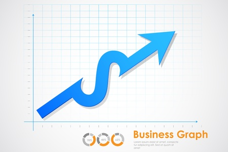illustration of business profit graph making Dollar sign Vector